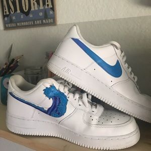 Custom hand painted Nike Air Force 1's